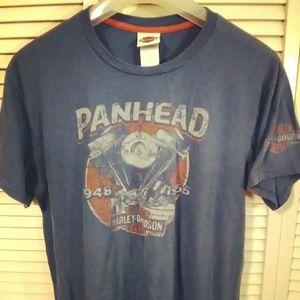 Harley Davidson Vintage Panhead T Shirt; XL